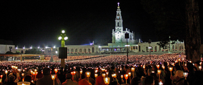 Candlelight procession in the Sanctuary of Fatima (Shrine of Our Lady of Fatima)